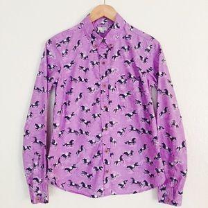 Anthropolige Button down shirt  Size 6